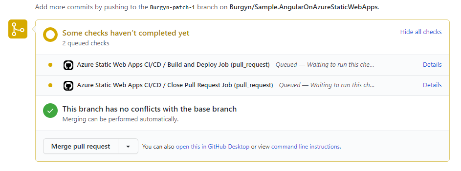 Pull request check.